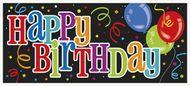 Fólia banner Happy Birthday Balloons