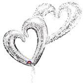 Fólia multi léggömb Interlocking Hearts