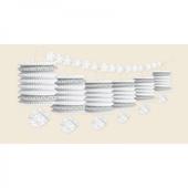 Lampionfüzér fehér csengők