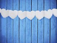 Girland fehér szívek