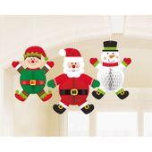 Függődekorációk Honeycomb Karácsonyi figurák