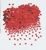 Konfetti piros szív
