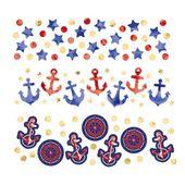 Konfetti tengerész parti