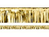 Rövid parti függöny arany