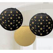 Lampionok Gold-Silver Stars