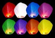 Szerencse lampion sokszínű - 10db