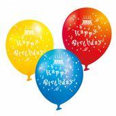 Latex léggömb  mix, Happy Birthday