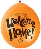 Latex léggömbök Welcome Home