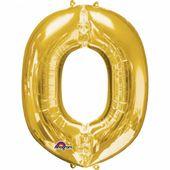 """Fólia léggömb """"O"""" arany"""
