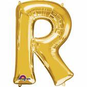"""Fólia léggömb """"R"""" arany"""