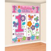 Fali dekoráció 1. születésnap B-day Girl