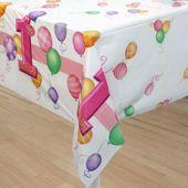 Asztalterítő 1. születésnap kislány