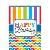Asztalterítő Birthday Bright rainbow