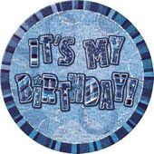 Kitűző It's my Birthday kék