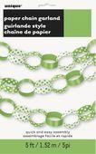 Papírlánc Dots zöldcitrom