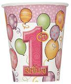 Pohár 1. születésnap kislány