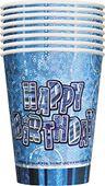 Pohár Birthday Blue Glitz