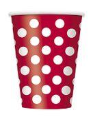 Piros pohár pöttyös