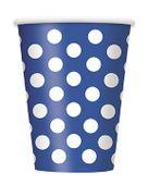 Kék pohár pöttyös