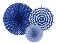 Legyező dekoráció kék