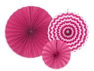 Legyező dekoráció rózsaszín