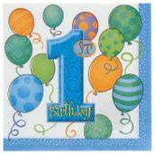 Szalvéta 1. születésnap kisfiú