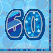 """Szalvéta Birthday """"60"""" Blue"""
