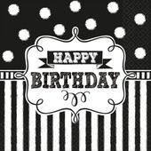 Szalvéta Chalkboard Birthday