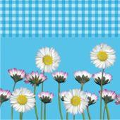 Szalvéta Daisy kék