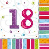 """Szalvéta Radiant Birthday """"18"""""""