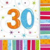 """Szalvéta Radiant Birthday """"30"""""""