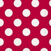 Kis szalvéta dots piros