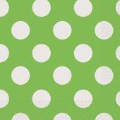 Szalvéta limetta színű pöttyös