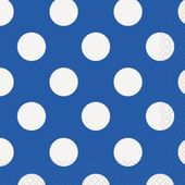 Kis szalvéta kék pöttyös