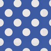 Szalvéta kék pöttyös