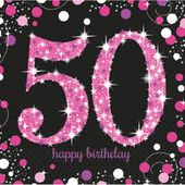 Szalvéta Pink Diamonds 50