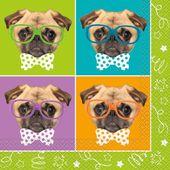 Szalvéta Pug Birthday