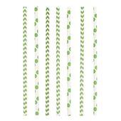 Papír szívószál Chevron&Dots kiwi zöld