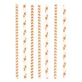 Papír szívószál Chevron&Dots narancssárga
