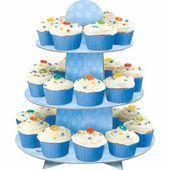 Cupcake és muffin állvány  kék