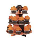 Cupcake és muffin állvány narancssárga-fekete
