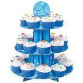 Cupcake állvány glitz kék