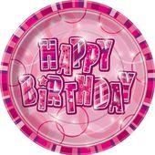 Tányér Birthday Pink