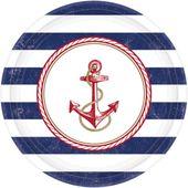 Tányér tengerész parti 27cm