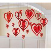 Függődekoráció 3D Hearts