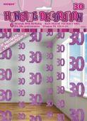 Függődekoráció glitz 30 rózsaszín