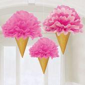 Függődekoráció rózsaszín fagyi