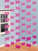 Függődekoráció  rózsaszín 30