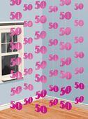 Függődekoráció rózsaszín 50