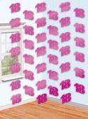 Függődekoráció  rózsaszín 18